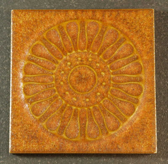 Carreaux Emaillé 7.3 x 7.3 cm Marron