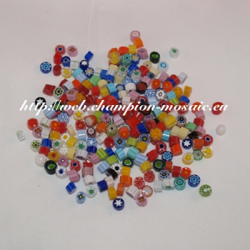 Millifiori n° 6 Mix Transparent 5-6 mm, par 50g