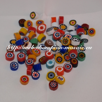 Millifiori n° 3 Mix Opaque 8-10 mm, par 50g
